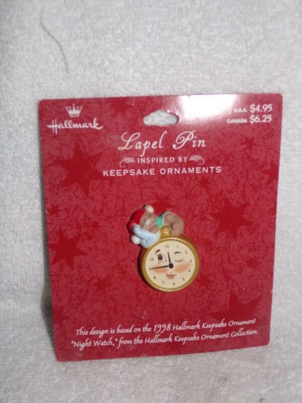 Hallmark Keepsake  • Christmas Lapel Pin 1998 Night Watch Sleepy Mouse