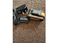 Worx battery plus charger