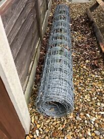 Stock Wire Fencing 6'4 high Nearly Full Roll - Heavy Guage - bargain