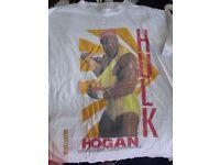 RARE WWF/WWE /WCW WRESTLING HULK HOGAN T-SHIRT UK TOUR 1991 SIZE M