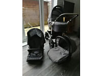 Alson 3 in 1 Baby Pram Pushchair Buggy Stroller + Car Seat Travel System