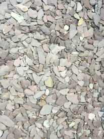 Plum coloured slate stones