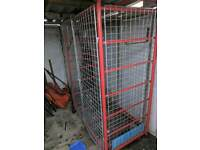 Storage cage / trolley for gas bottles/parts/tools