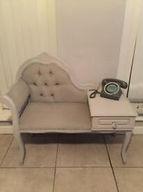 Telephone table grey up cycled