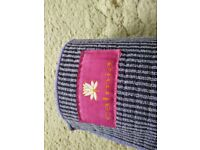 Purple soft fabric yoga mat