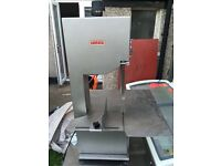 MAINCA butcher meat band saw and table - Ex butcher clearance