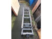 Slide n tilt ladder rack