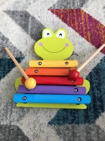Wooden frog xylophone