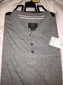 MENS CASUAL GREY POLO SIZE LARGE