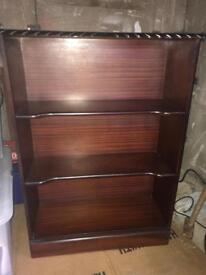 Solid dark wood 3 shelf book case