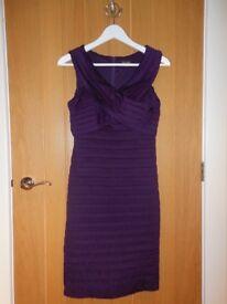 Phase Eight Purple Sleeveless Layered Dress Knee Length Size 10
