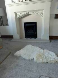 Gas fire with coal effect hardly used as new