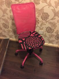 IKEA pink office chair