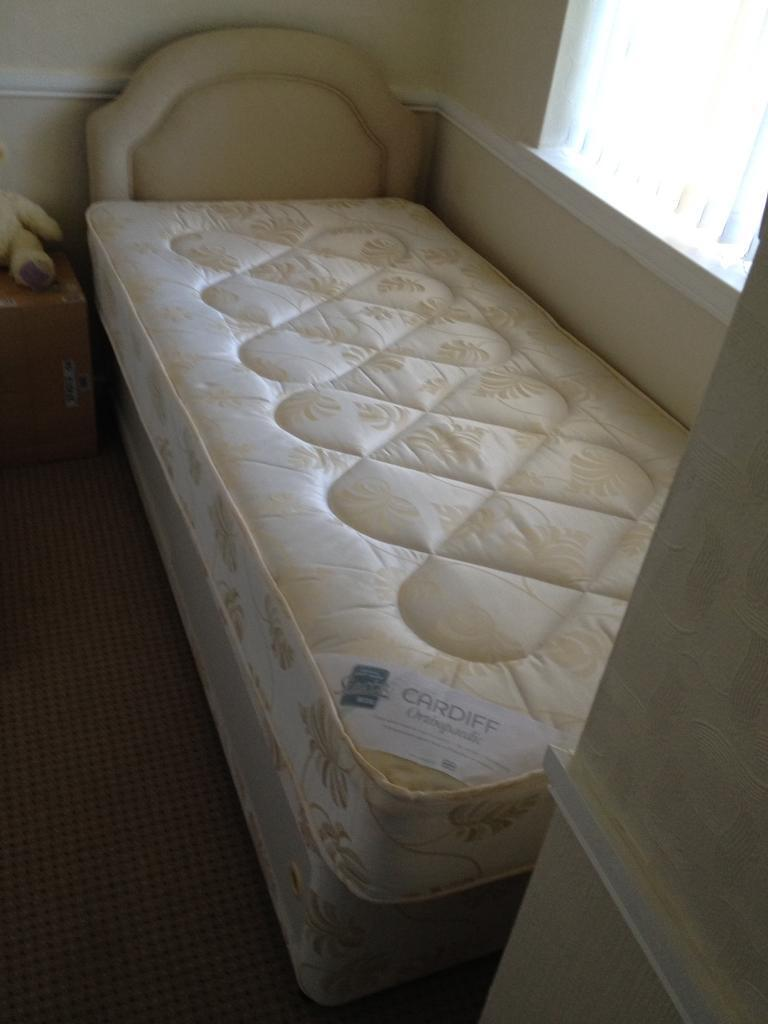 Divan bed singlein Solihull, West MidlandsGumtree - Divan bed single never used collection only please from Solihull near ice rink selling for my grandparents need it gone asap £50ono