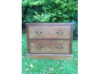 solid wood 2 drawer chest