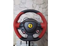 Thrustmaster steering wheel and stand for xbox one