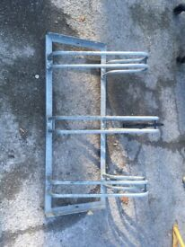 Triple bicycle rack