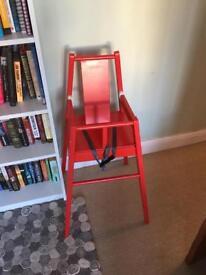 Ikea red highchair