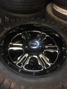 FOUR NEW 20 INCH VISION RAGE WHEELS + 33X12.5R20 TIRES -- 5X127 / 5X139.7
