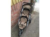 Dolls double pushchair mamas and papas