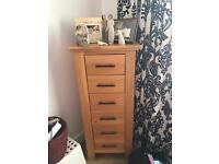 Solid Oak Drawer Unit with 6 drawers £120
