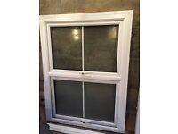 3 x Upvc double glazed sash style Windows