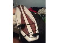 Mini mal surfboard and bag