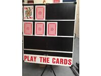 Large play your cards right board