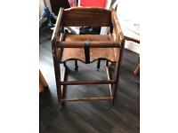Free Real wood high chair