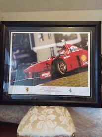 Certificated Eddie Irvine F1 scene