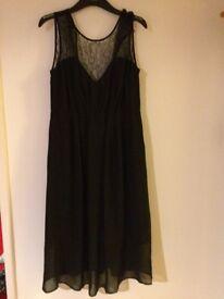 Black festive maternity dress