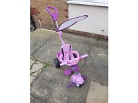 Little Tikes pink 4 in 1 smart trike hardly used excellent condition