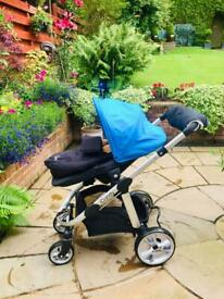 Stunning Icandy Apple to Pear pushchair and carrycot