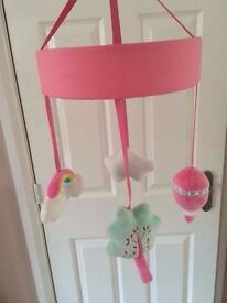 Pretty Girls muscial cot mobile