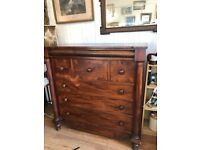 Large Mahogany Chest of Drawers - Good quality and great storage .
