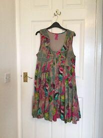 Next Multi Coloured Dress Size 14