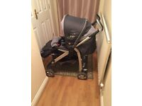 Silver cross 3d cargo travel system, car seat pram / push chair good working condition