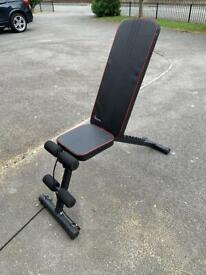 Adjustable dumbbell set 41kg each and adjustable weights bench
