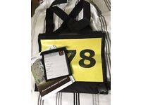 Cross country number bib and medical armband