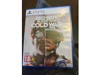 Call og duty cold war ps5 game like new