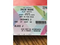 2 x Imagine dragons tickets. £80 due to short notice.