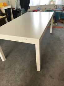 IKEA BJURSTA EXTENDABLE TABLE  (WHITE)