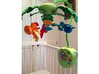 Fisher Price Rainforest Peek-A-Boo Leaves Musical Mobile £17