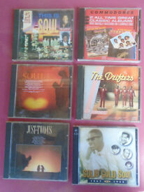 6 Superb Music CD's .. SOUL & MOTOWN . See Photos