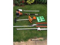 4 in 1 petrol hedge trimmer.