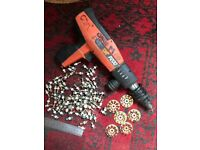 SPIT P200 Nail Gun (for Fixing to Concrete or Steel) with assorted cartridges and fixings