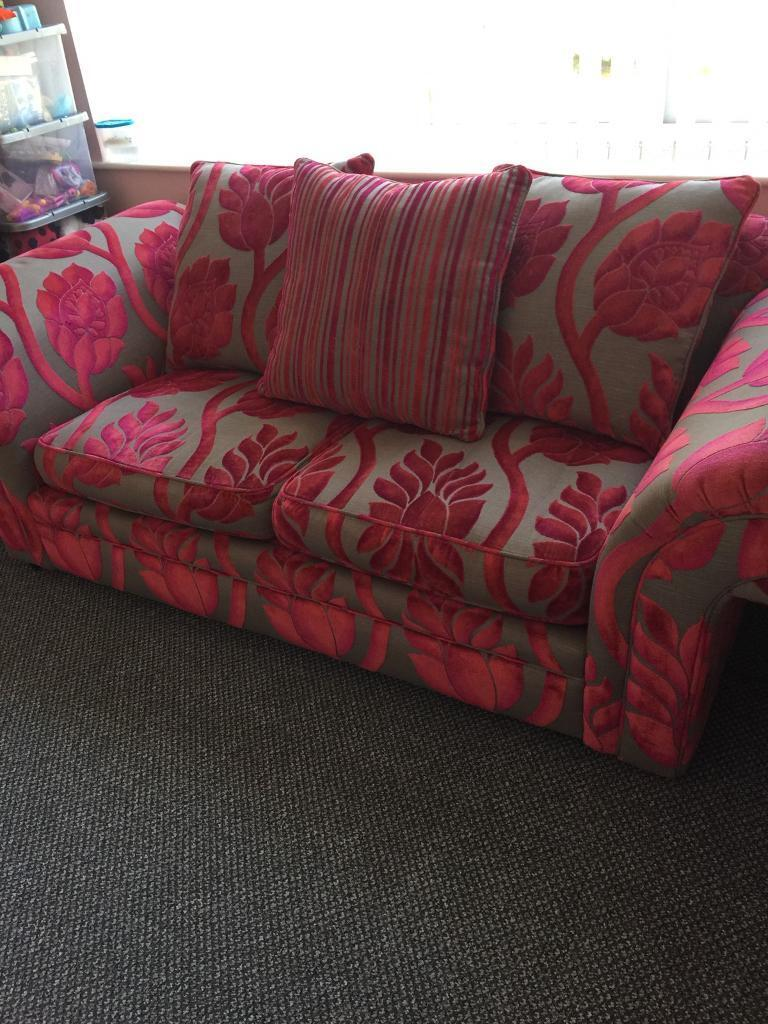 Sofa bedin Liverpool, MerseysideGumtree - Sofa bed in excellent condition, from pet and smoke free home, sofa arms can be removed for moving as this is very heavy and solid, cerise and grey colour