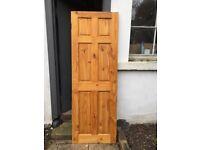 Solid Pine 6 Panel Internal Door in Excellent Condition