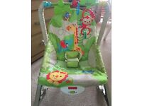 Fisher price rainforest vibrating rocker