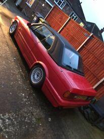 1992 BMW E30 325i Cabriolet Mtec 2 Hellrot Red Facelift